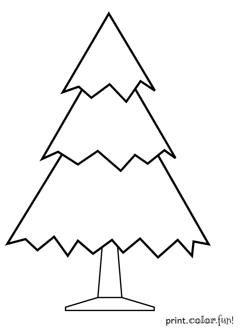 Undecorated Christmas tree coloring page - Print. Color. Fun! Make ...