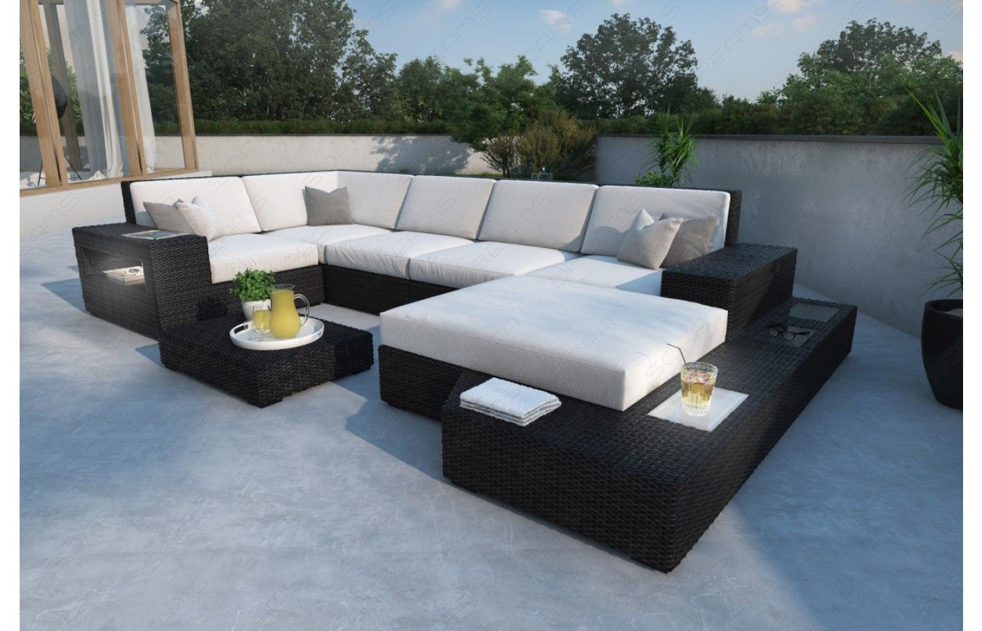 Rattan Sofa Messana U In 2020 Rattan Lounge Möbel