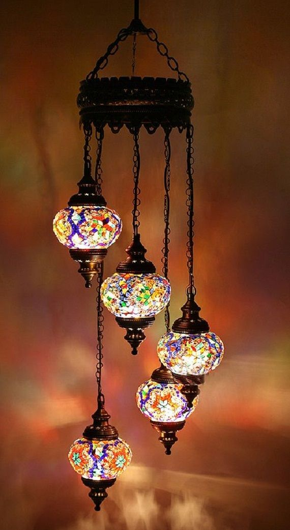 Turkish 5 pieces hanging glass mosaic chandelier handmade turkish turkish 5 pieces hanging glass mosaic chandelier handmade turkish mosaic b 007 lamps aloadofball Images