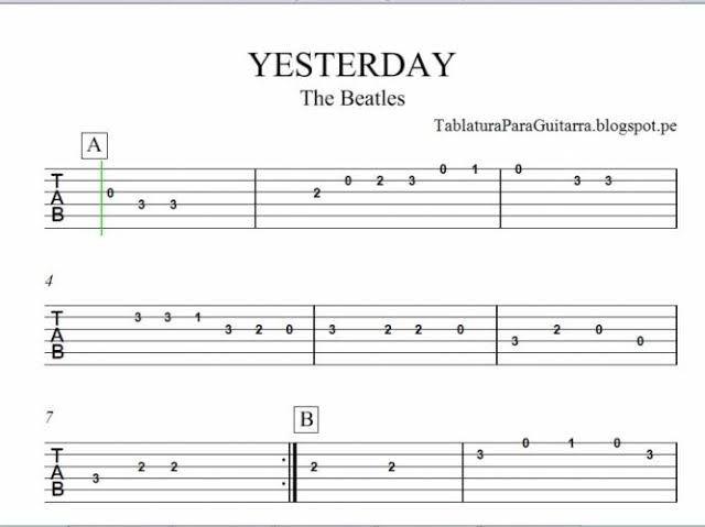 Resultado De Imagen De Partituras Para Guitarra Faciles Con Numeros Tablaturas Guitarra Guitarras Canciones De Guitarra