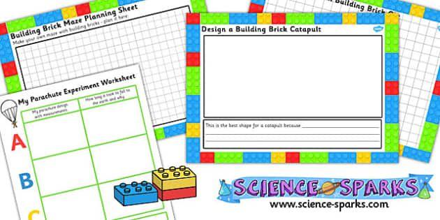 Building Brick Science Experiment Activity Sheet Templates ...