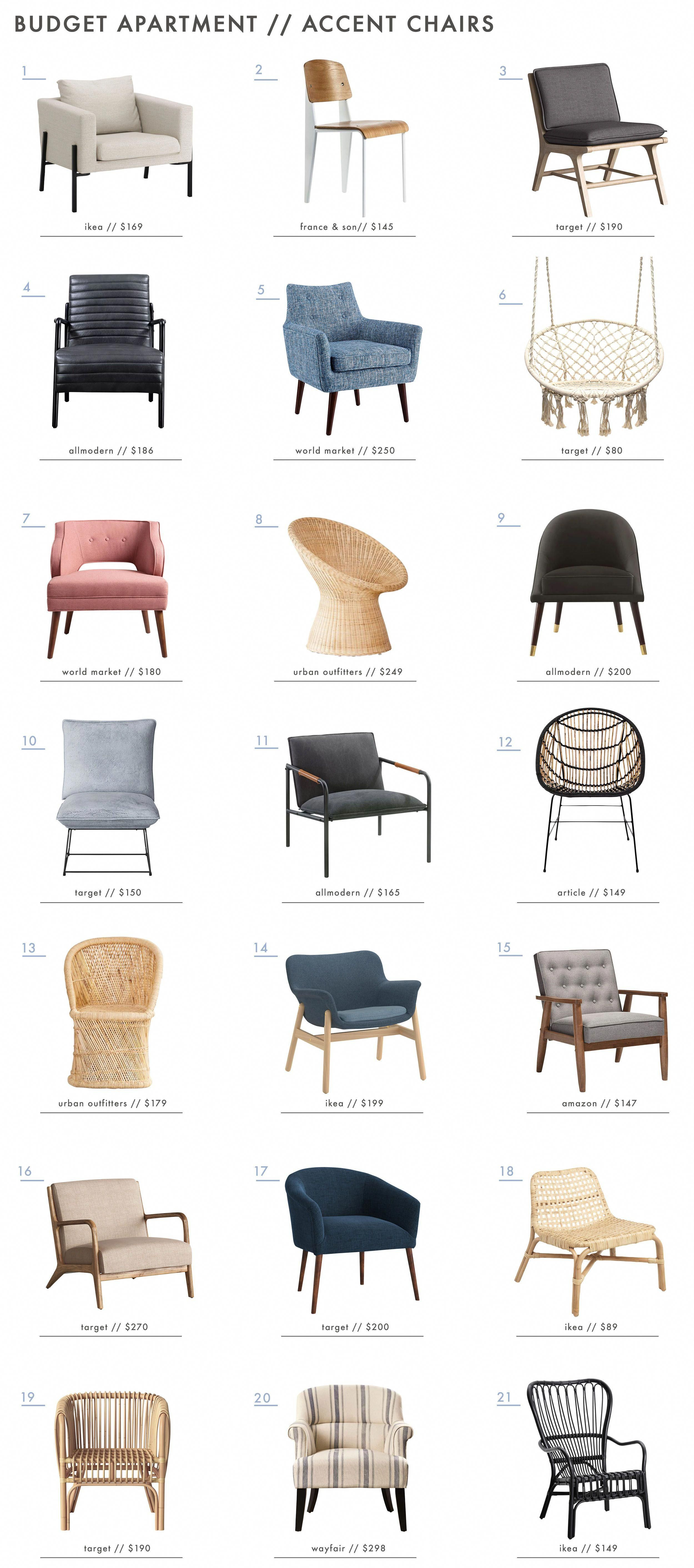 Emily Henderson Budget Apartment Furniture Accent Chairs Home