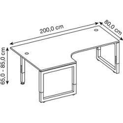 Photo of Hammerbacher Rs82 scrivania regolabile in altezza bianca rettangolare Hammerbacher
