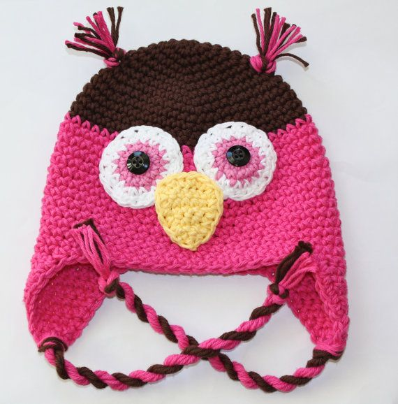 owl flap hat from etsy