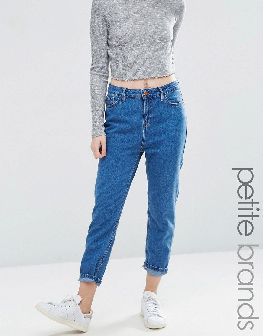Image 1 of New Look Petite Mom Jean
