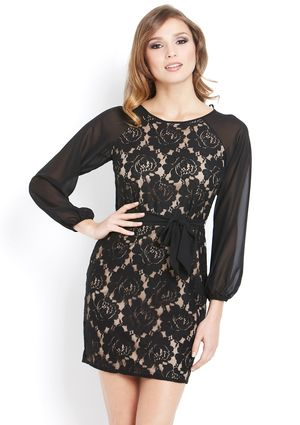 JESSICA HOWARD Petite Lace Blouson Sleeve Dress  $49.99