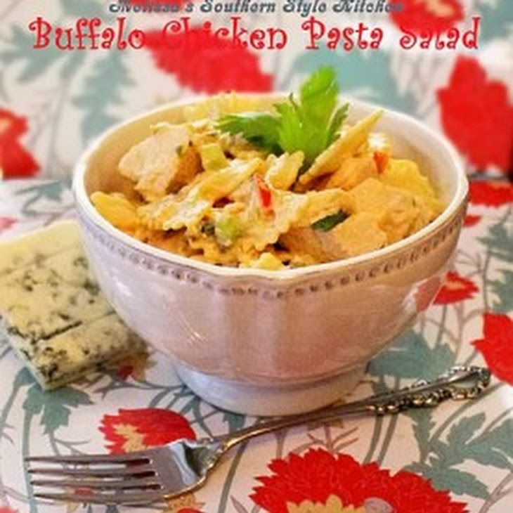 Buffalo Chicken Pasta Salad Recipe | Yummly #buffalochickenpastasalad