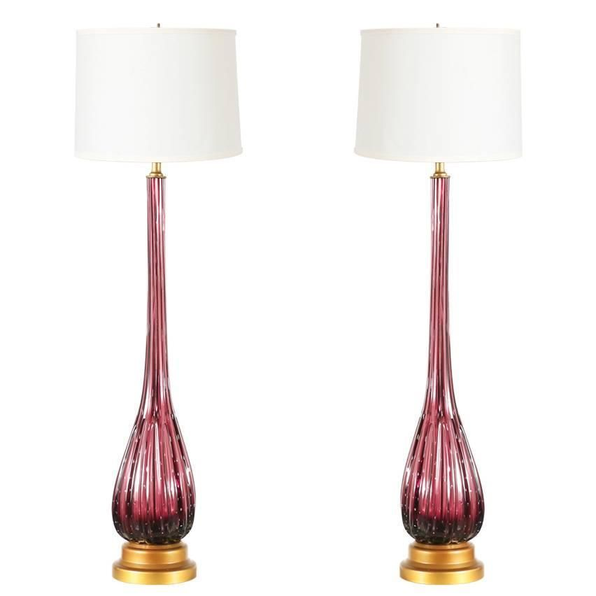 Vintage italian murano glass table lamps modern table lamps vintage italian murano glass table lamps from a unique collection of antique and modern table aloadofball Images