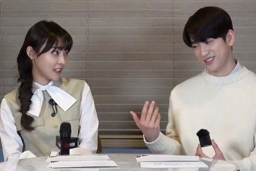 """Watch: GOT7's Jinyoung And Jeon So Nee Show Charming Chemistry In Interview For """"When My Love Blooms"""""""