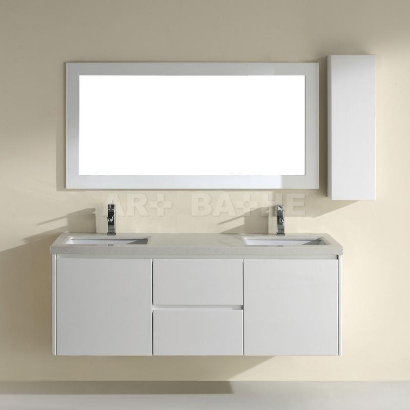 Barros 63 White Bathroom Vanity Unique Bathroom Vanity Bathroom Vanity Vanity Set With Mirror