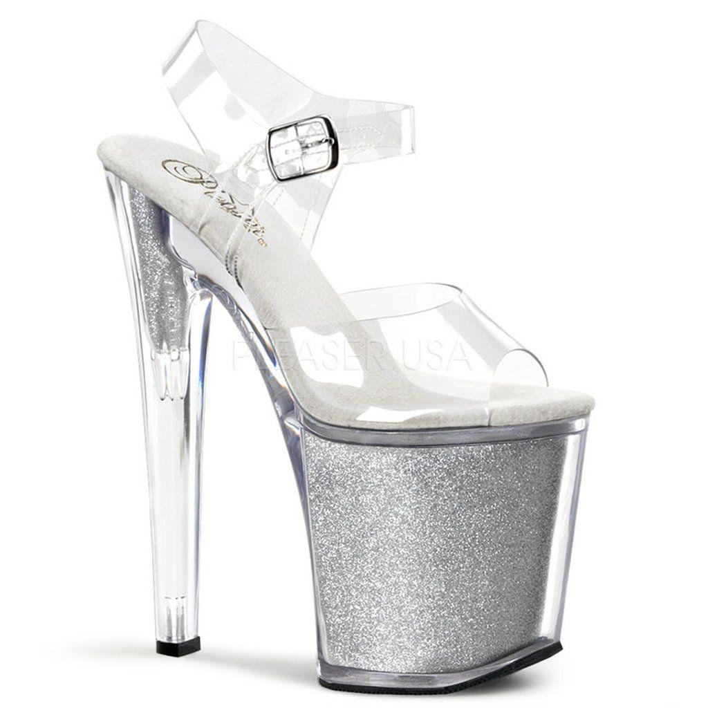 Zapatos transparentes sexy Pleaser Xtreme para mujer aJLA4O6