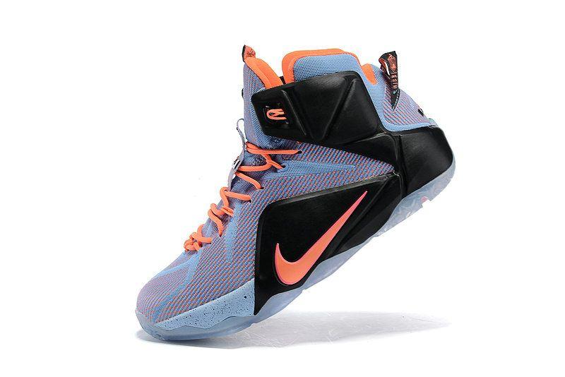 300fdaa75e075 Nike LeBron 12 Easter Aluminum Sunset Glow Hot Lava Black 684593 488 ...