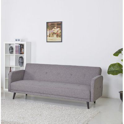 Langley Street Zelmo Sleeper Sofa Upholstery: Ash