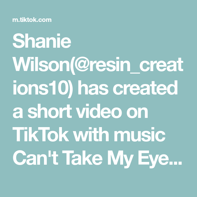Shanie Wilson Resin Creations10 Has Created A Short Video On Tiktok With Music Can T Take My Eyes Off You L O V E Resin Love Signs Homemade Gifts Resin