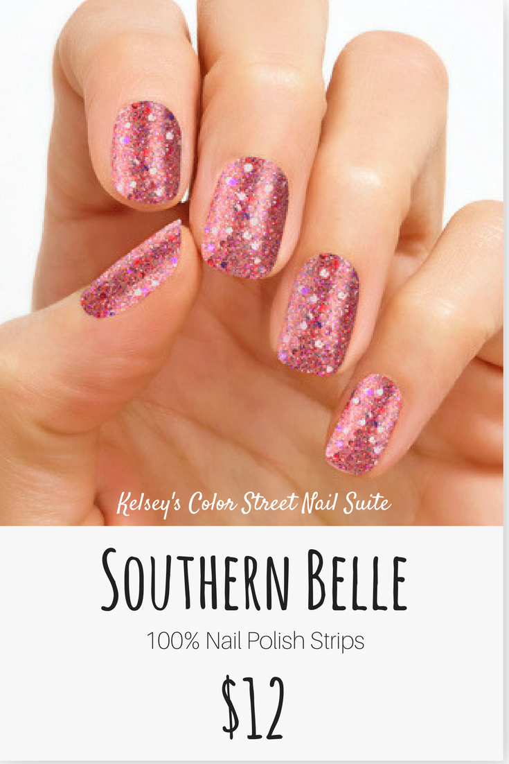 Color Street Southern Belle. How pretty is this pink multi colored ...