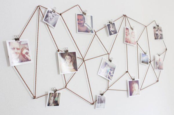 17 Totally Untraditional, Unique Ways to Hang Pictures on Your Wall – Pin Decor
