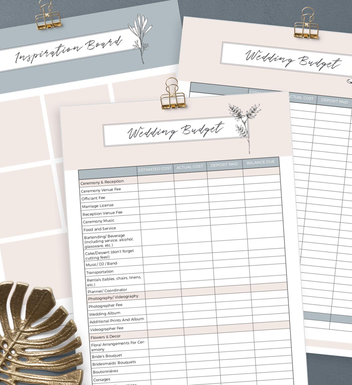Free Printable Wedding Planner By Creativethings Studio