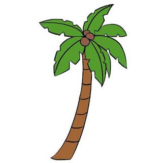 تعليم الرسم للاطفال المبتدئين كيفية رسم شجرة النخيل خطوة بخطوة Palm Tree Drawing Tree Drawing Easy Drawings