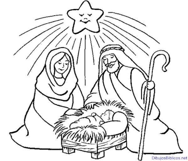 Dibbujo para colorar de navidad. Niño Jesús | Reflexiones Cristianas ...
