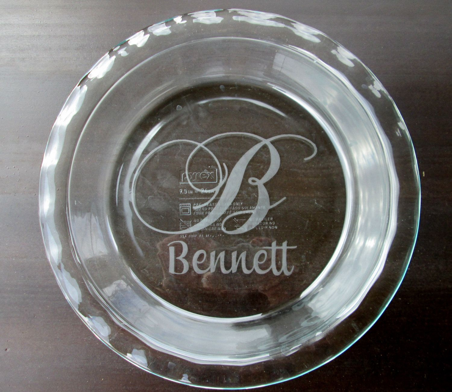 Items similar to Round Custom Etched Pyrex Glass Pie Plate / Dish / Pan on Etsy & Round Custom Etched Pyrex Glass Pie Plate / by KGCustomDesigns ...