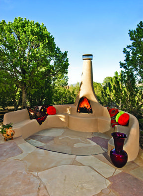 A Fantastic Outdoor Patio With A New Mexico View Created By