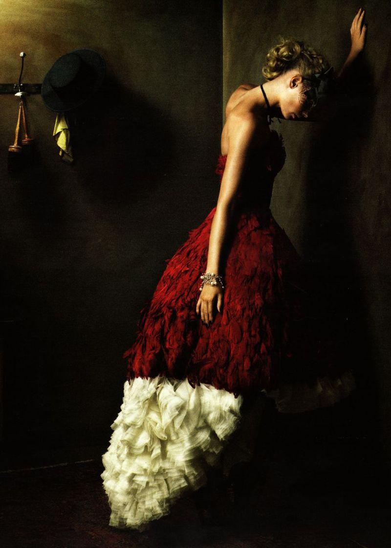 Julia Stegner in Alexander McQueen  Ph. by Alexi Lubomirski  German Vogue December 2008