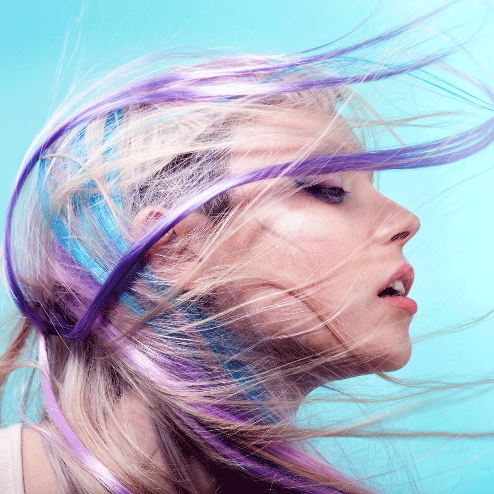 Elle UK #coloredhair #colorhair #hair #purplehair #rainbowhair