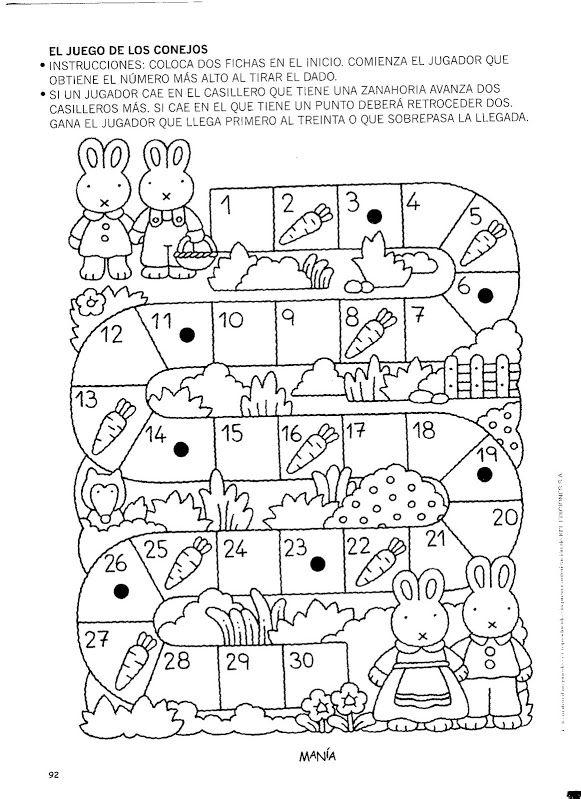 El Juego De Los Conejos Juegos Matematicos Para Niños Juegos De Matemáticas Juegos De Matemáticas Preescolares