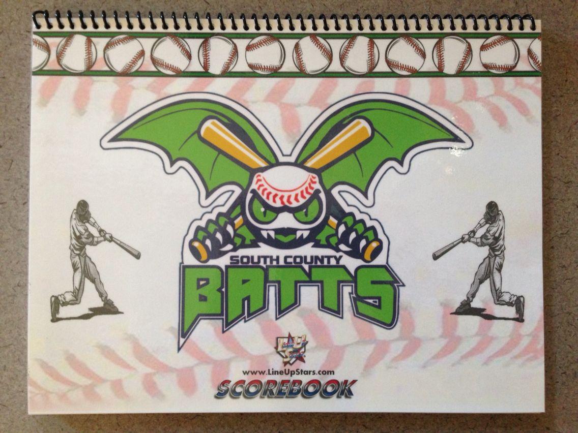 Custom Logo Baseball Softball Scorebook Premium Scorebook From Www Lineupstars Com Baseball Dugout Softball Scorebook Play Baseball Games