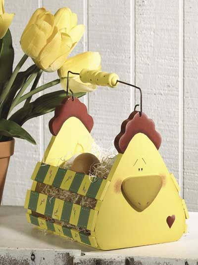 Crafts - Woodworking - Home Accents - Chick Tote - #FG00276