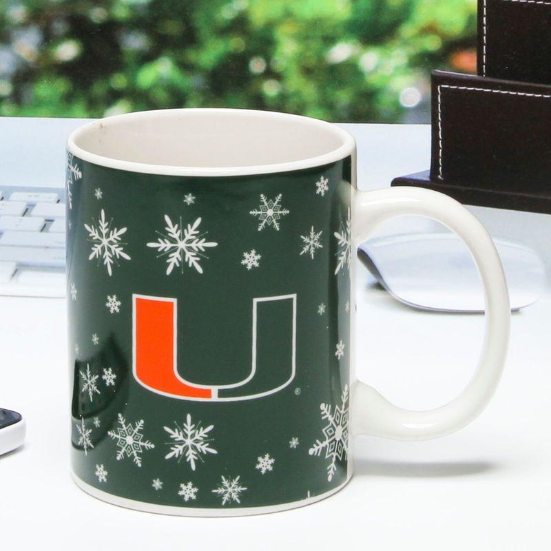 Miami Hurricanes 11oz. Snowflake Mug