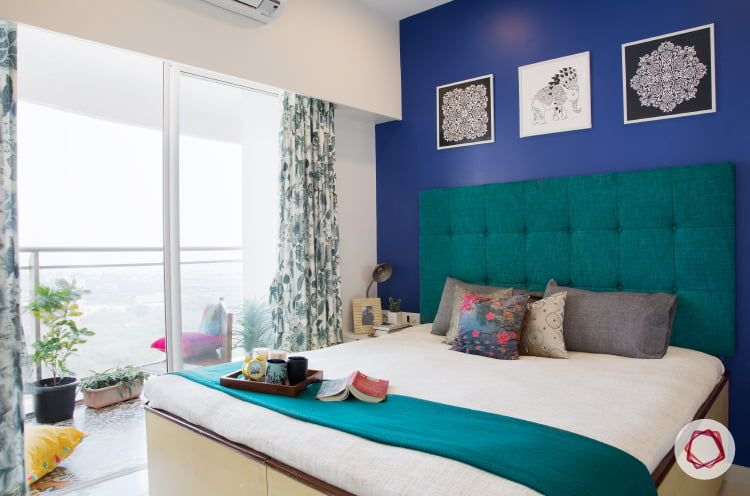 Mumbai interior design monaco blue wall also contemporary moroccan in  home house rh pinterest