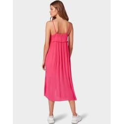 Photo of Tom Tailor Denim women's midi dress with button front, pink, plain, size S Tom TailorTom Tailor