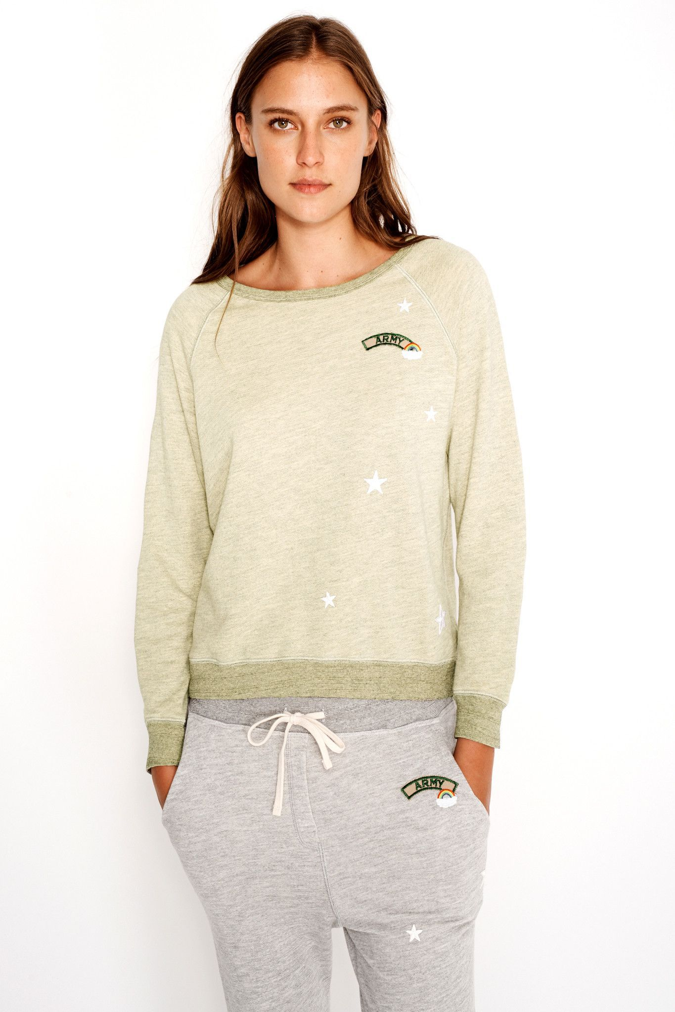 Sundry Terry Patches Sweatshirt