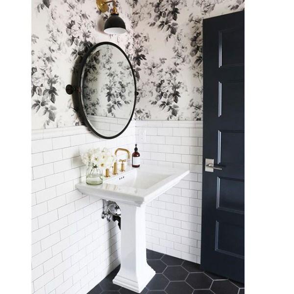 41 Half Bathroom Ideas That Ll Keep This Small Space Feeling Fresh Small Half Bathrooms Powder Room Small Half Bath Decor