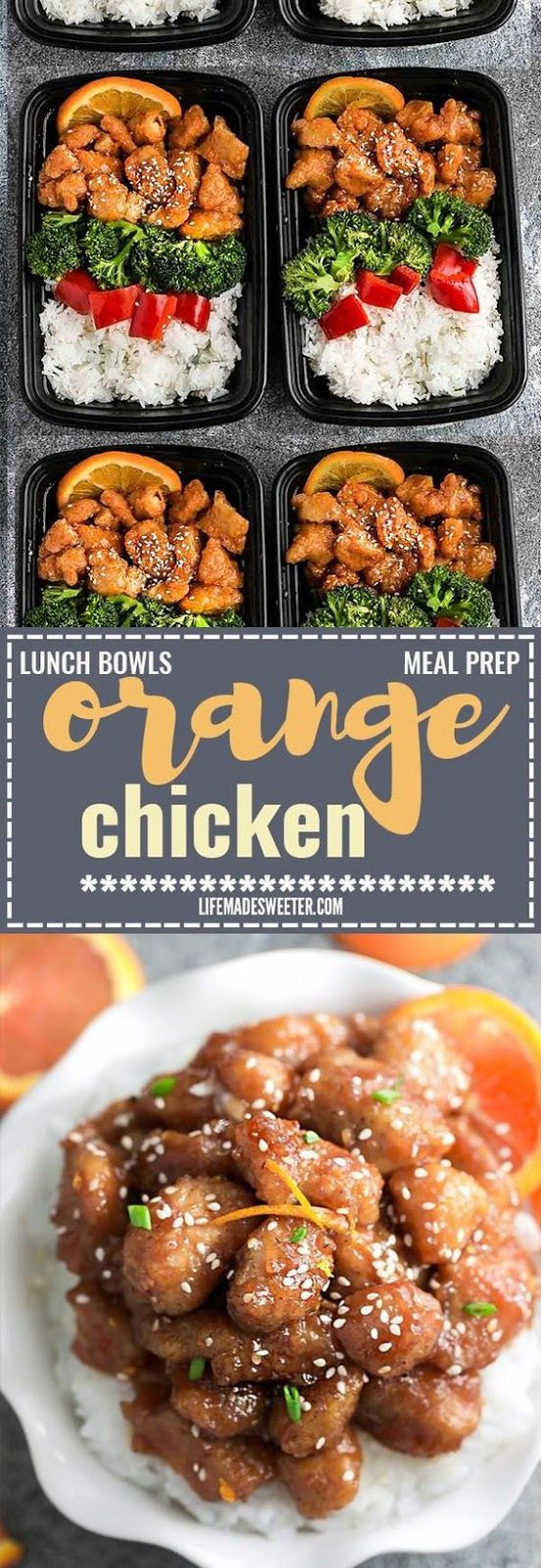 Slow Cooker Orange Chicken #crockpotmealprep