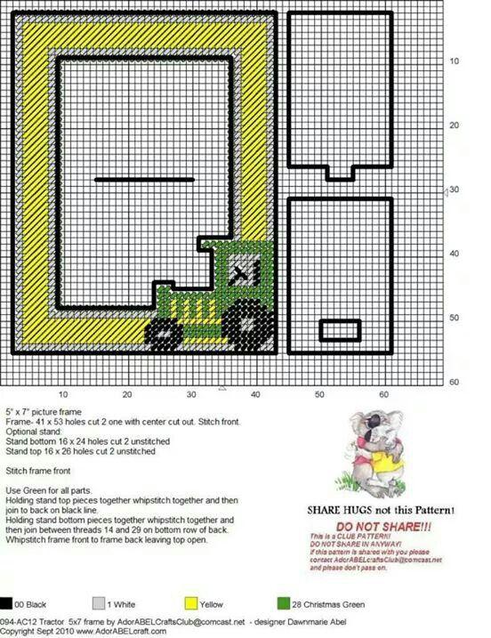 John Deere frame | Plastic canvas | Pinterest | Marcos, Marcos de ...