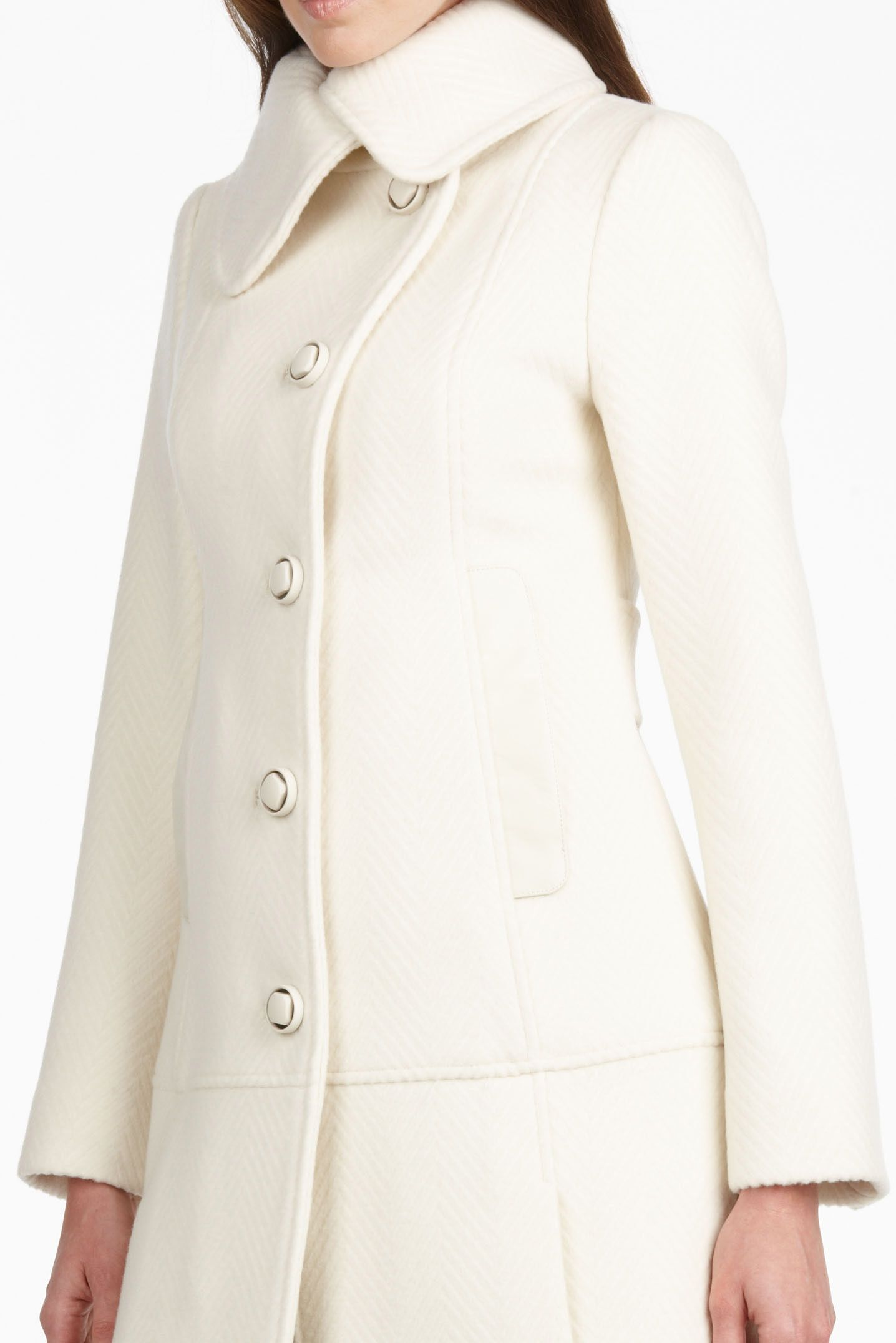 white womens winter coat | White Women's Winter Wool Coats ...