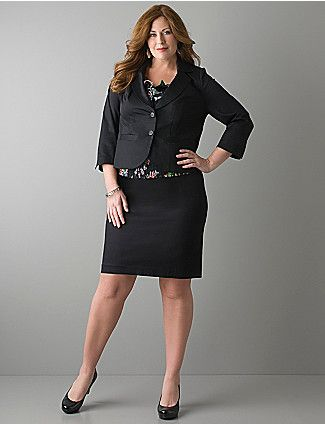 0d8ce852849 Full figure Sateen blazer and skirt. Another great look for work ...