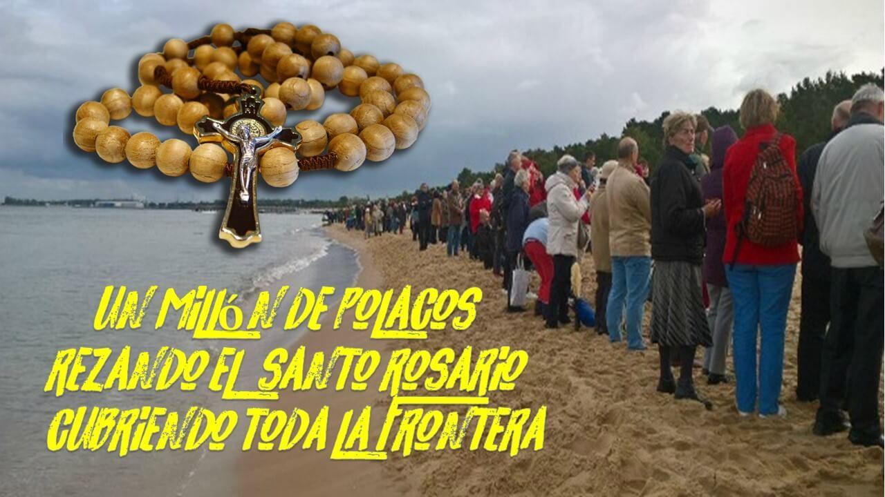 Resultado de imagen para un millon de polacos rezan rosario