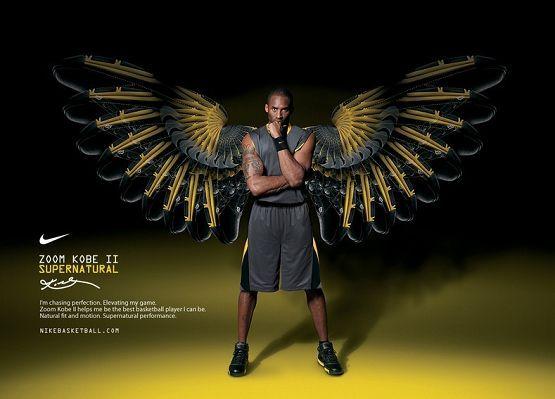 Kobe Bryant The Black Mamba With Black Wings Cool Guy Nba