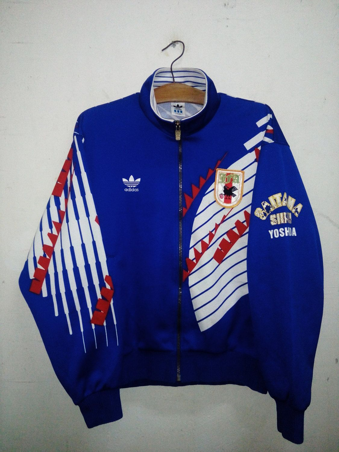 Sale Rare ! Vintage Adidas Japan Samurai Blue Football