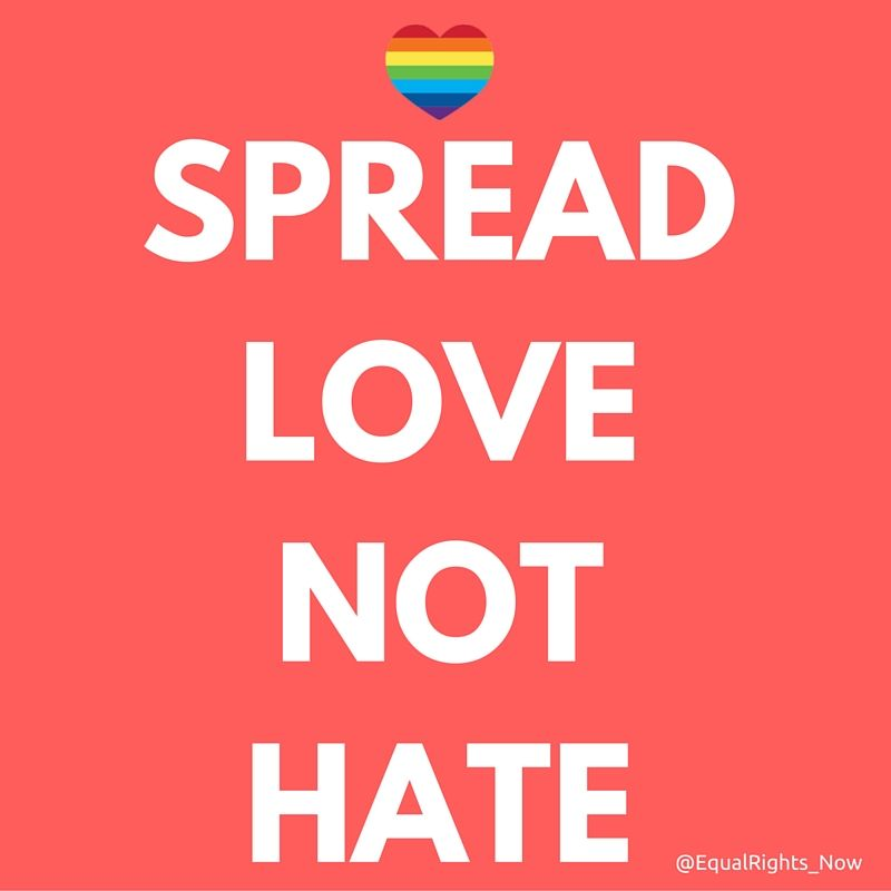 Spread Love Not Hate Quotes: [Spread Love Not Hate] #NOH8 #LoveIsLove #LGBTLove