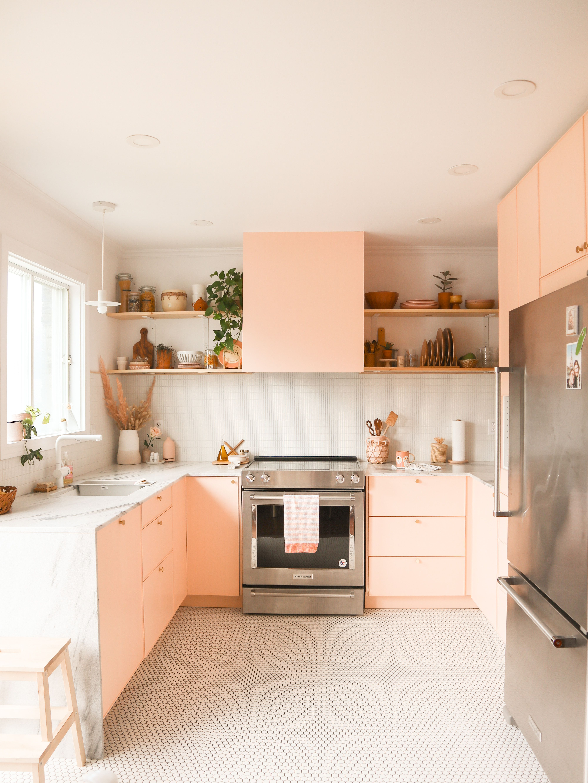 Post Fleur Maison In 2020 Pink Kitchen Cabinets Pink Kitchen Kitchen Interior