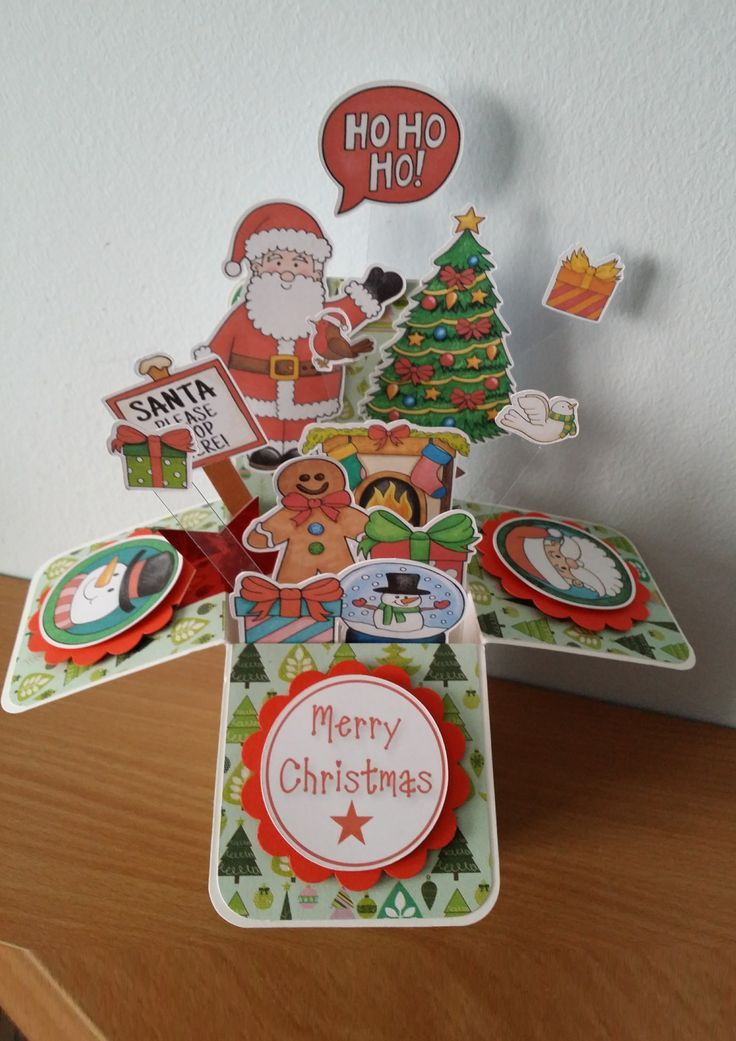 christmas card in a box - Google Search | Crafts - Card and ...