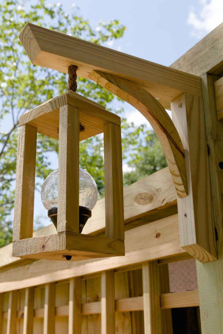 Diy Garden Trellis Lanterns Solar Light Trellis Free How To
