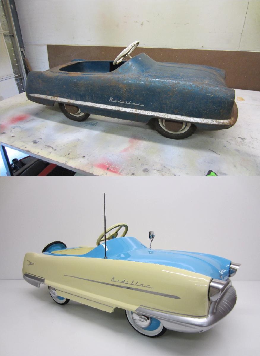 1959 Kidillac Pedal Car Restoration Pedal Cars Car Restoration Vintage Pedal Cars