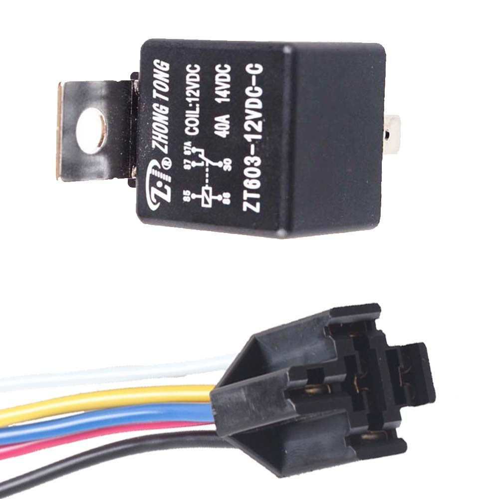 Ee Support Lot5 Black Iron Back Car Dc 12v 40a Amp Spdt Relay 5pin 5 Wire Relay Plug W8 Universal Car Styling Xy01 Auto Black Iron Car