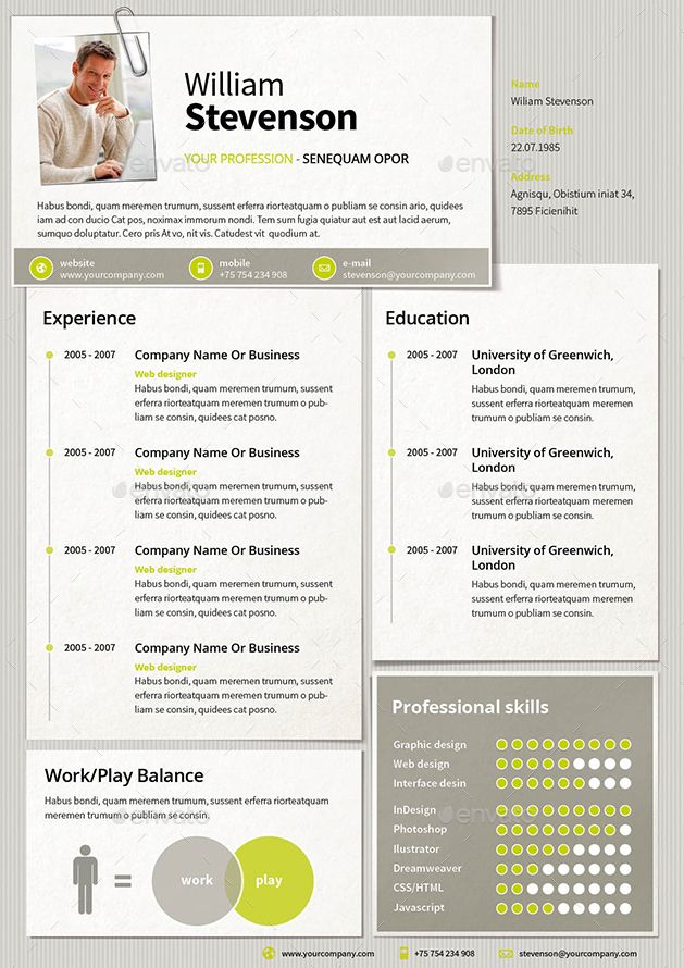 Professional resume template buy