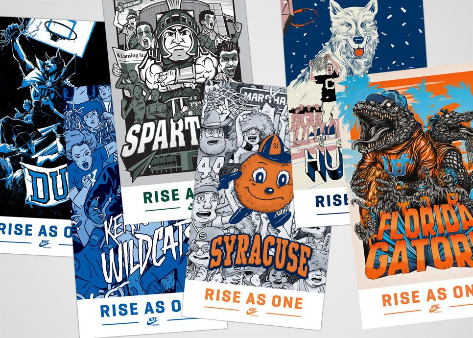 From Nike: Nike Sportswear unveils a limited edition Spring 2012 product collection, which includes Destoyer jackets, AW77 hoodies, crewneck sweatshirts, t-shirts, hats and shoes. Universities include Arizona, Duke, Connecticut, Florida, Kentucky, Michigan State and Syracuse.